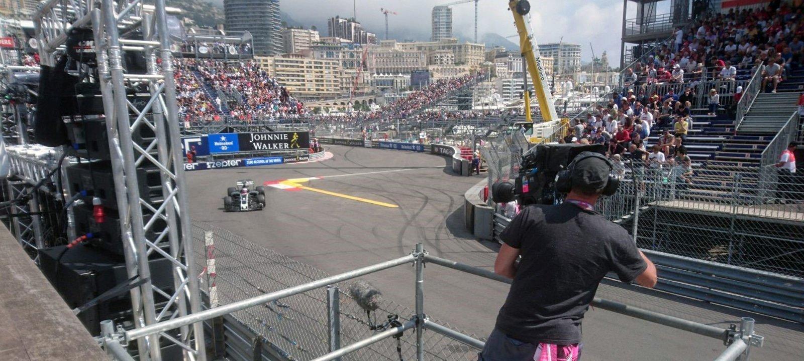 ES Broadcast Hire's 4K Cameras and Lenses in use at the F1 Monaco Grand Prix