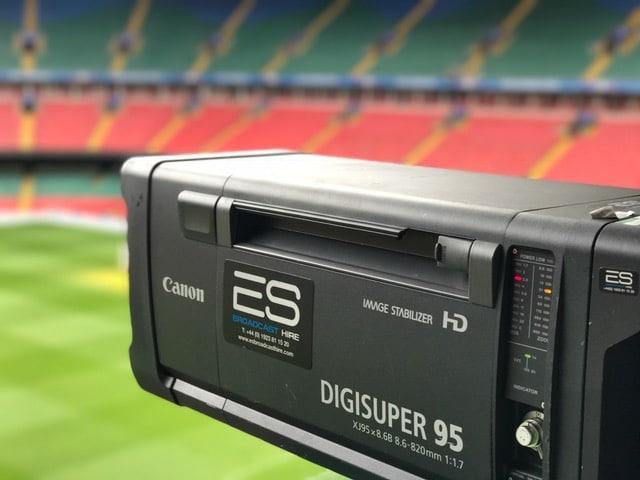 Canon XJ95 Digisuper95 HD Lens at the UEFA Champions League in Cardiff