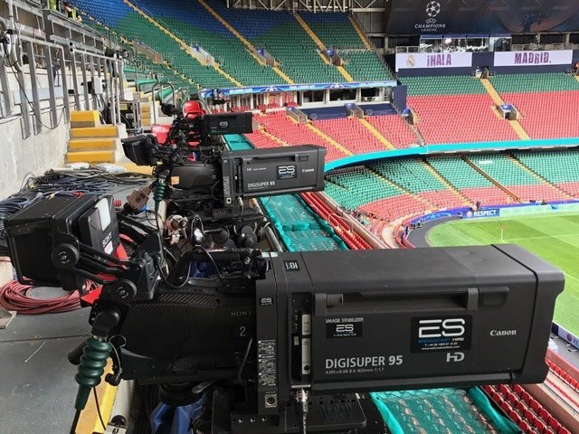 Canon XJ95 Digisuper95 HD Lenses at the UEFA Champions League in Cardiff