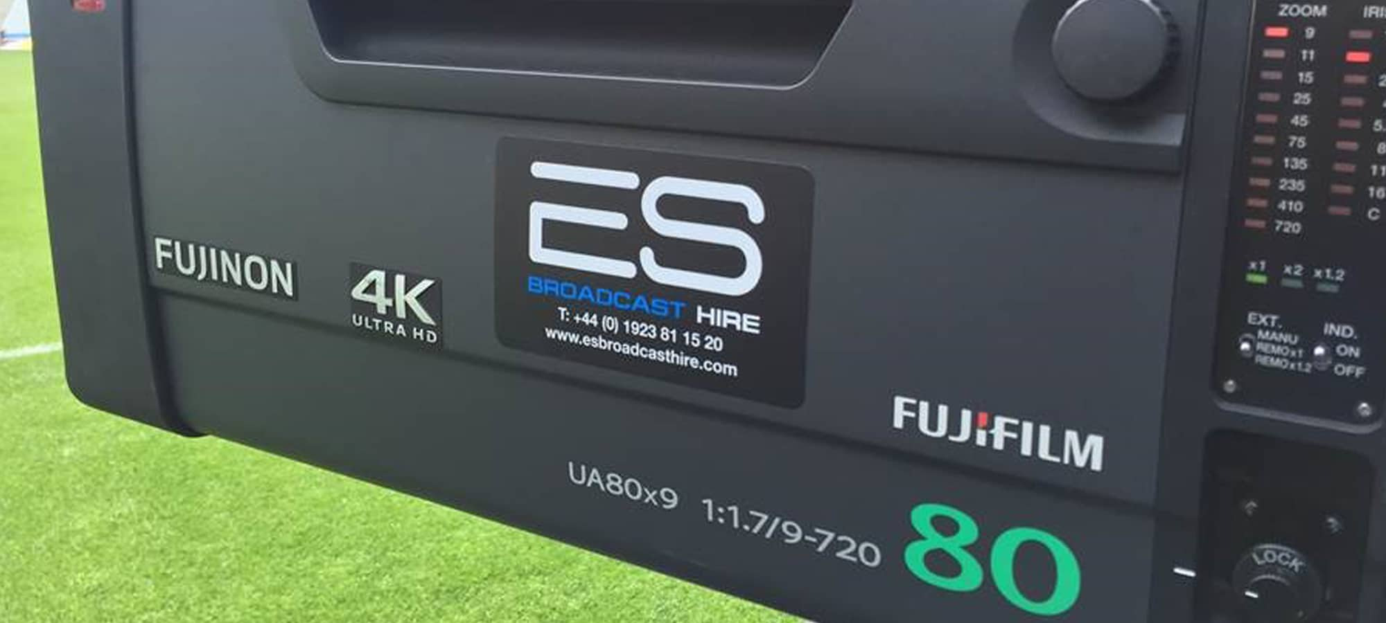 Fujinon UA80 4K Lens for Live Sports Production