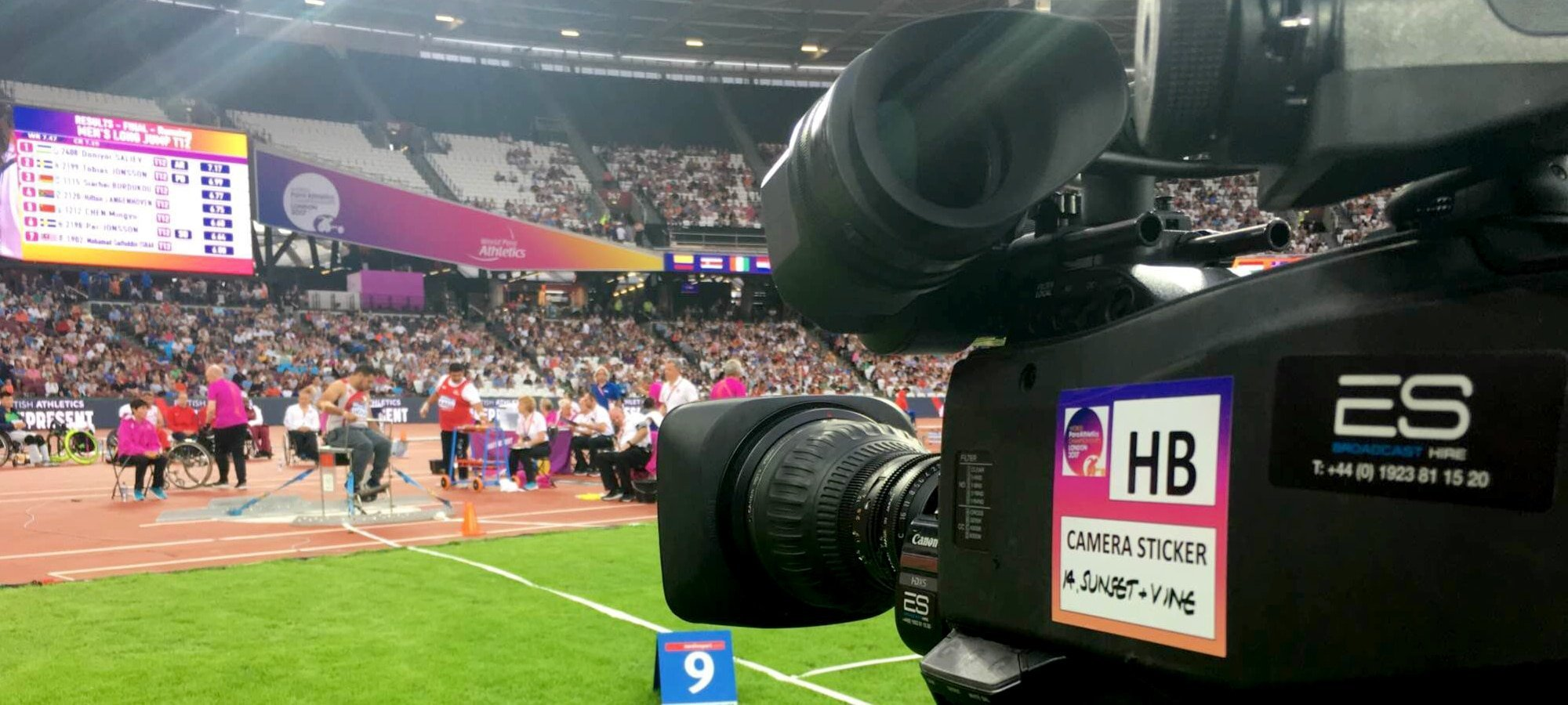 Sony HDC-4300 4K camera at the IPC World Para Athletics Championships in London