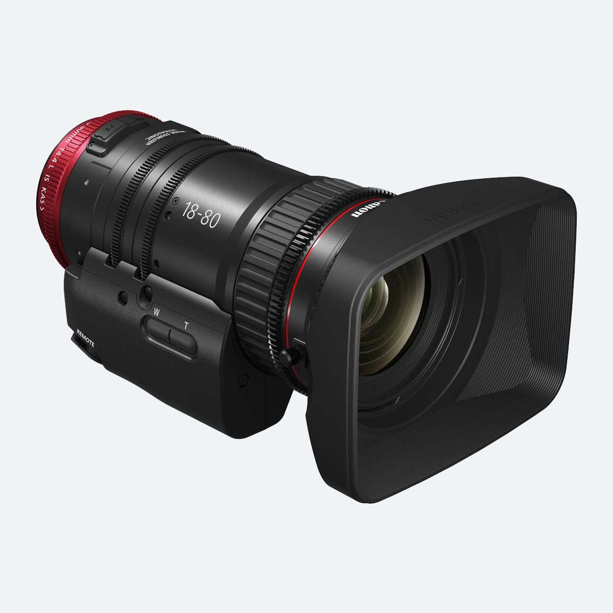 Canon CN-E18-80mm T4.4 L Servo Cinema Zoom 4K EF Lens