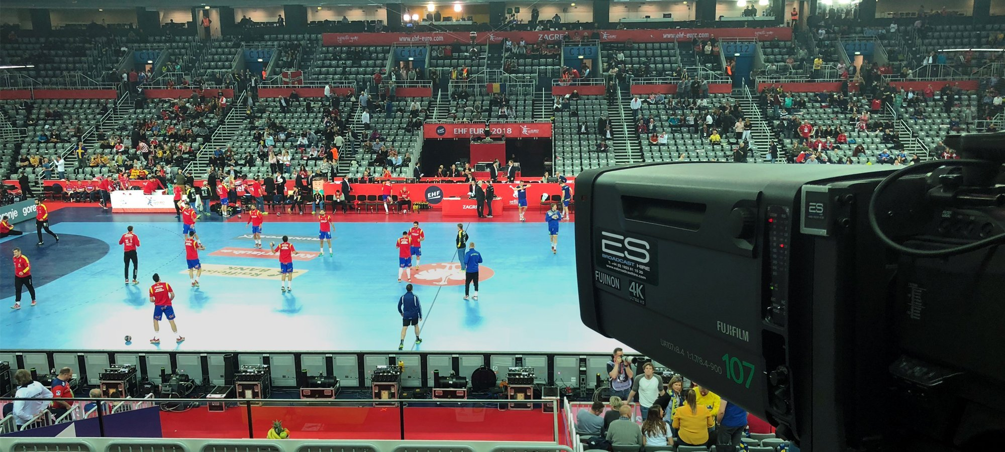 Fujinon UA107 lenses from ES Broadcast Hire were used at the European Men's Handball Championships