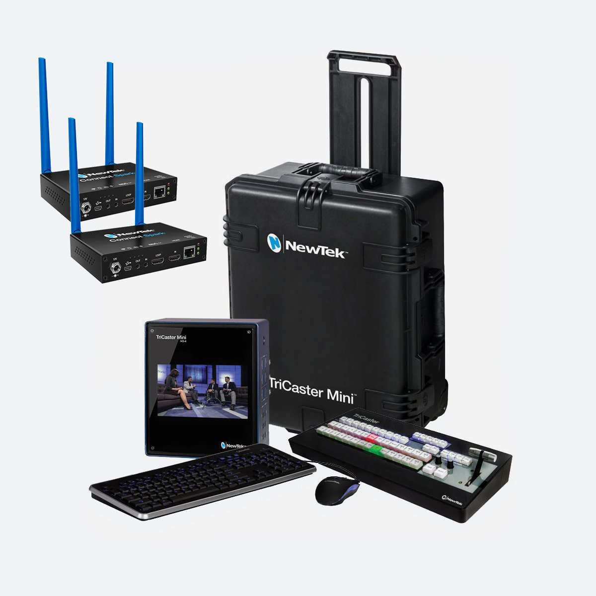 NewTek TriCaster Mini HD-4i HDMI Bundle Spark HDMI