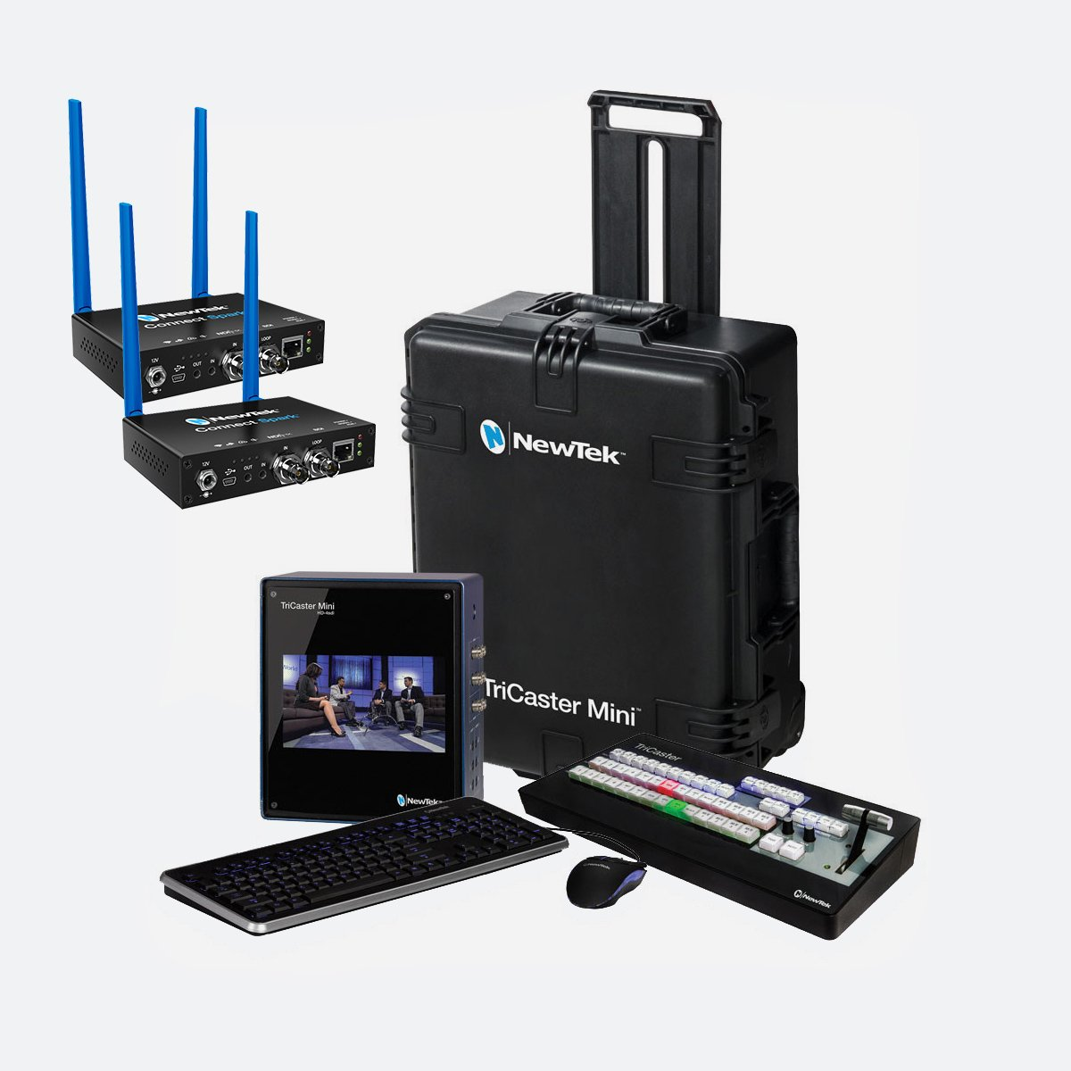 NewTek TriCaster Mini HD-4sdi SDI Bundle Spark SDI