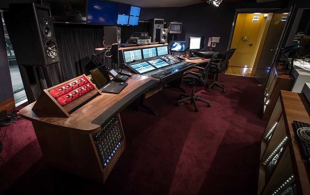 The music control room at The Hospital Club Studios