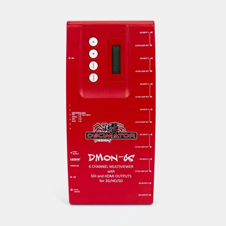 Used Decimator DMON-6S 6 Channel Multiviewer