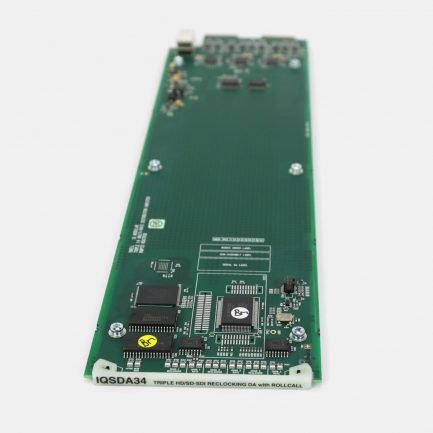 Used Snell IQSDA34 Triple Channel 3G/HD/SD-SDI Reclocking Distribution Amplifier with RollCall