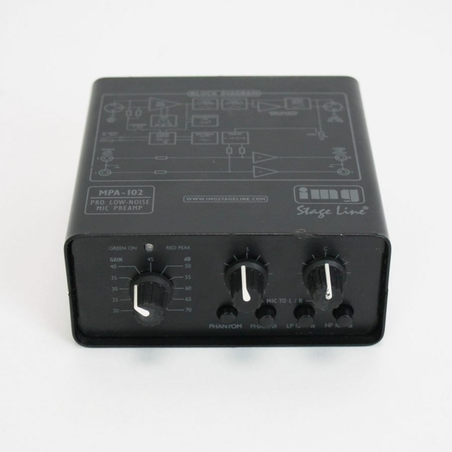 Used Stageline MPA-102 microphone preamplifier
