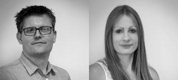 Systems integration team members Andrew Colgan and Deborah Jackson