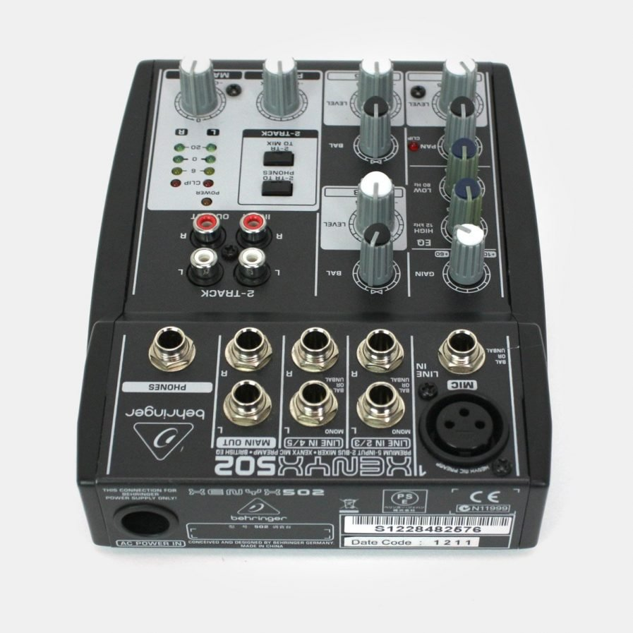 Used Behringer XENYX 502 5-Channel Compact mixer