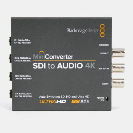 Used Blackmagic CONVMCSAUD4K Mini Converter SDI to Audio 4K