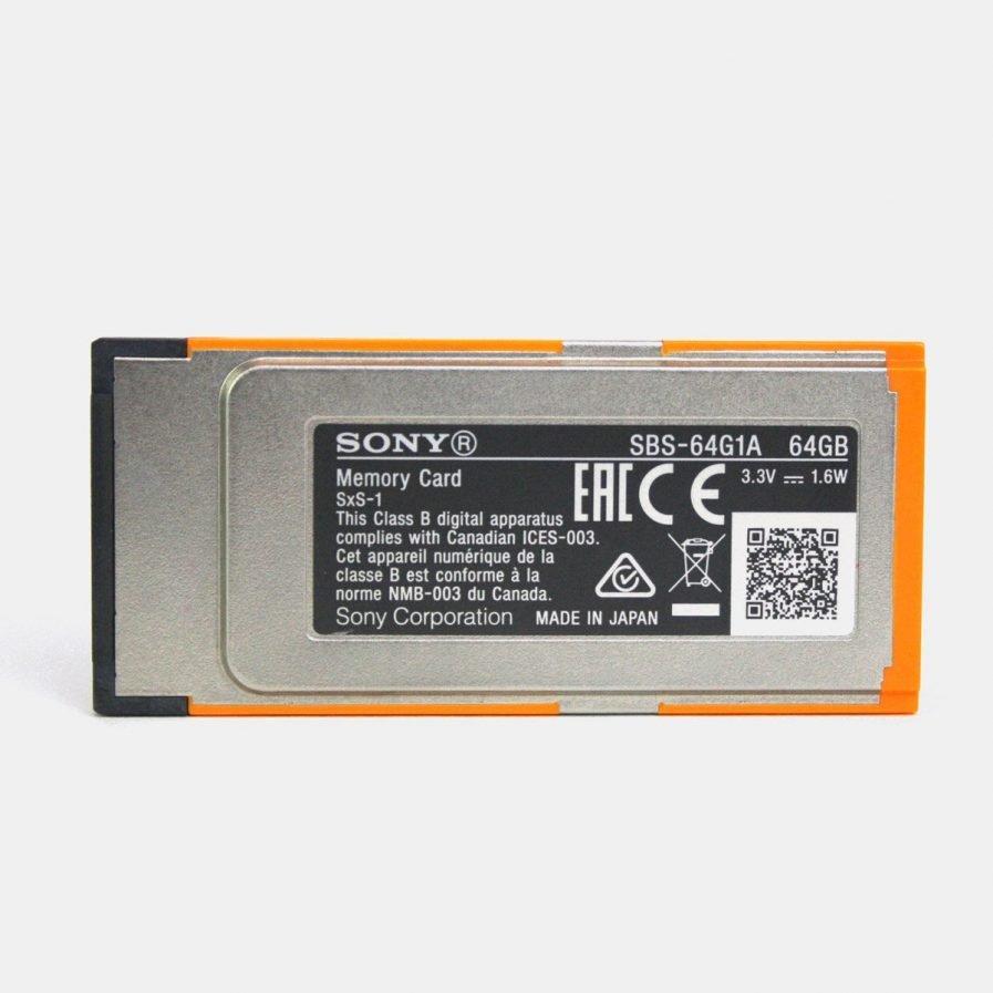 Ex-Demo Sony SBS-64G1A SxS 64GB memory card