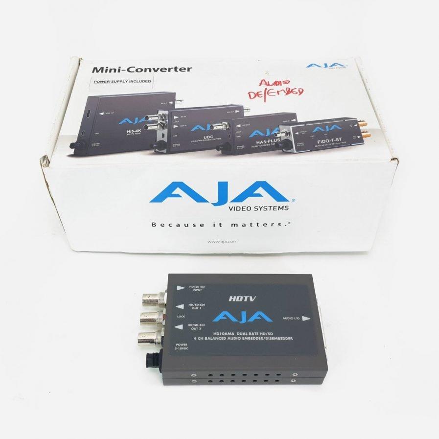 Used AJA HD10AMA Analog Audio Embedder/Disembedder